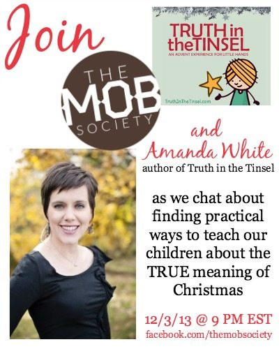 Need help knowing how to teach your children about the TRUE meaning of Christmas? Mark your calendars and join us on December 3rd!