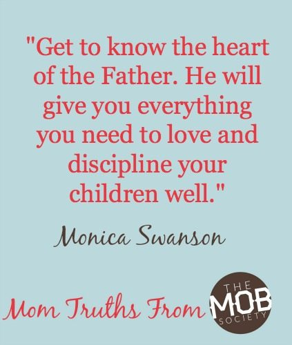 Want to get the discipline/love balance right? Get to know the heart of the Father. From the MOB Society series, Hope for the Messiness of Motherhood
