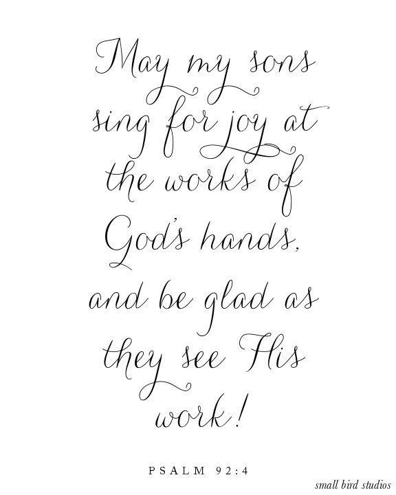 Choose one verse to pray for your sons in 2014, and grab this free printable download!