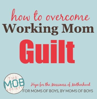 Feel like a failure because you work outside of the home? The MOB Society's Adelle Gabrielson helps you overcoming the working mom guilt.