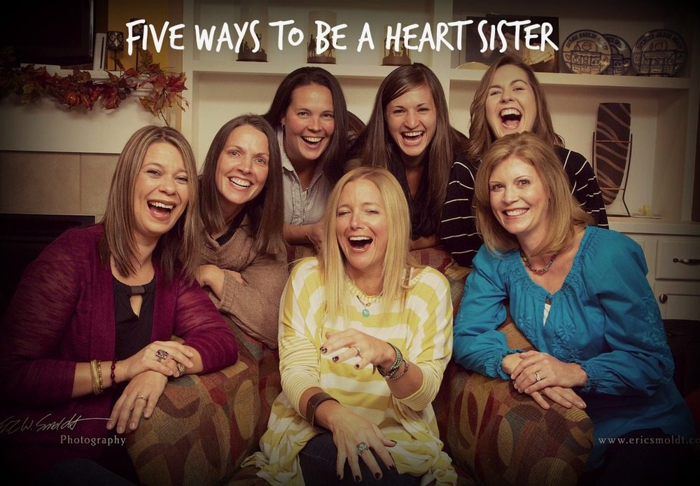 heart sisters laughing - MOB post