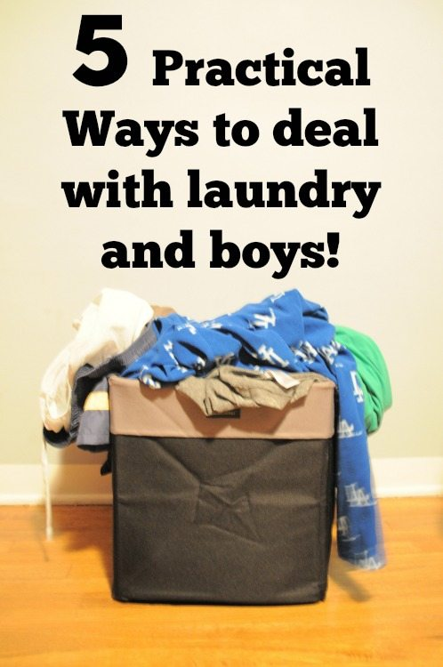 5 Practical Ways to Deal with Laundry and Boys