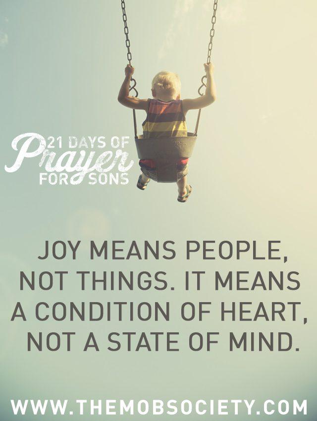 Joy —21 Days of Prayer for Sons Challenge via The MOB Society
