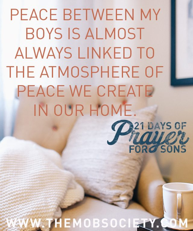 Peace — 21 Days of Prayer for Sons Challenge via The MOB Society
