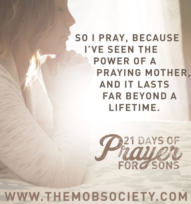 Salvation — 21 Days of Prayer for Sons Challenge via The MOB Society