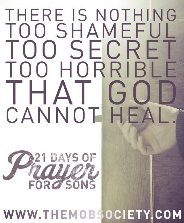 Self-Control —21 Days of Prayer for Sons Challenge via The MOB Society