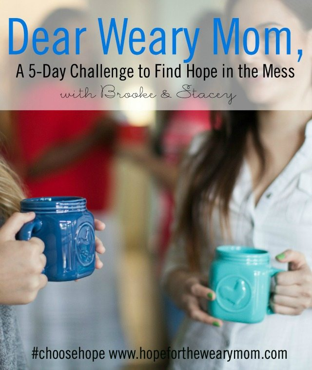 Join Stacey Thacker and Brooke McGlothlin for a 5-day devotional series designed to help you find hope in the midst messy motherhood.