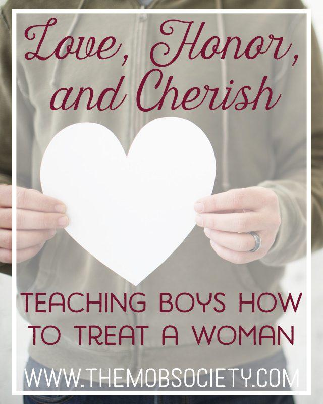 Love, Honor, and Cherish: Teaching Boys How to Treat a Woman via The MOB Society