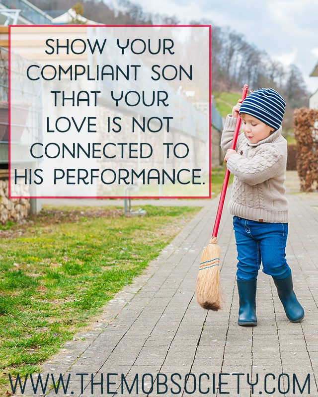 3 Hints for Dealing with a Compliant Son via The MOB Society