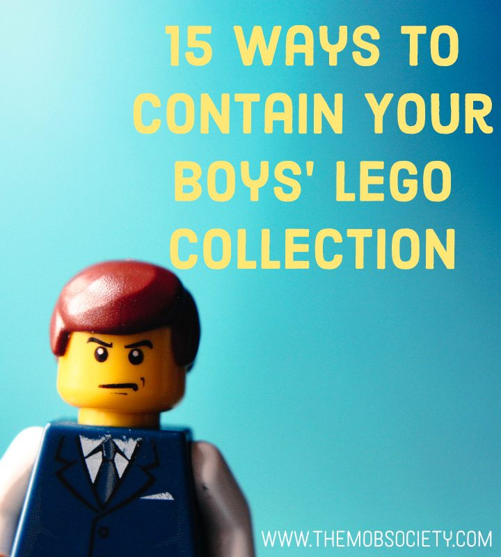 15 Creative Ways to Contain Your Boys' Lego Collection via The MOB Society