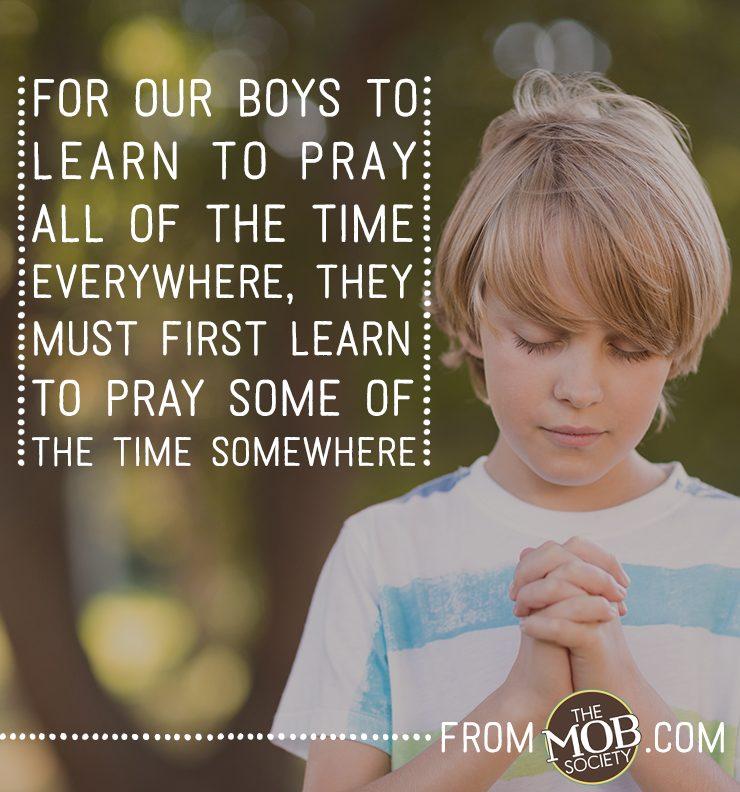 3 Simple Tips to Teach Boys to Take Responsibility to Pray via The MOB Society