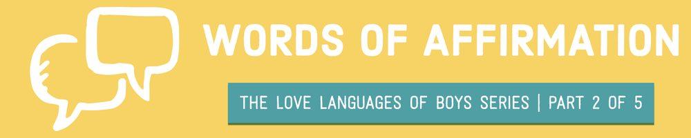 words of affirmation love language