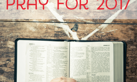 Choosing a Verse to Pray for 2017