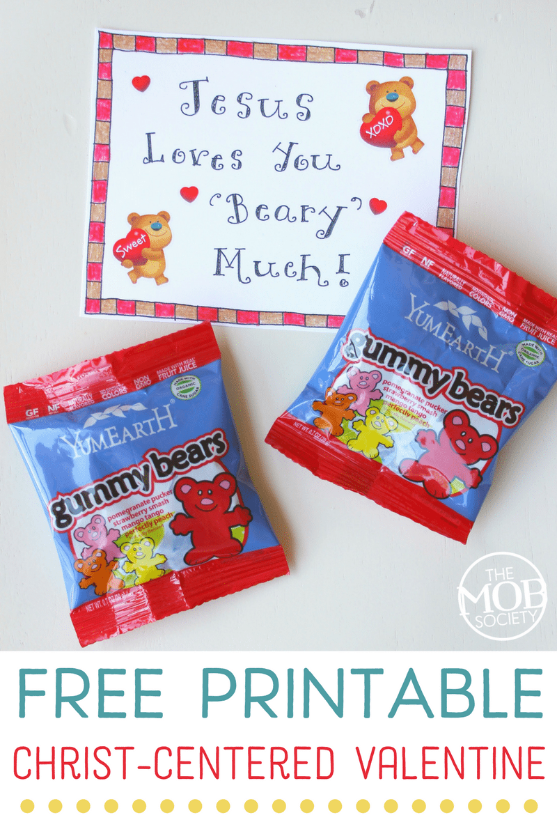 Christ-Centered Valentine for Preschoolers - FREE Printable!