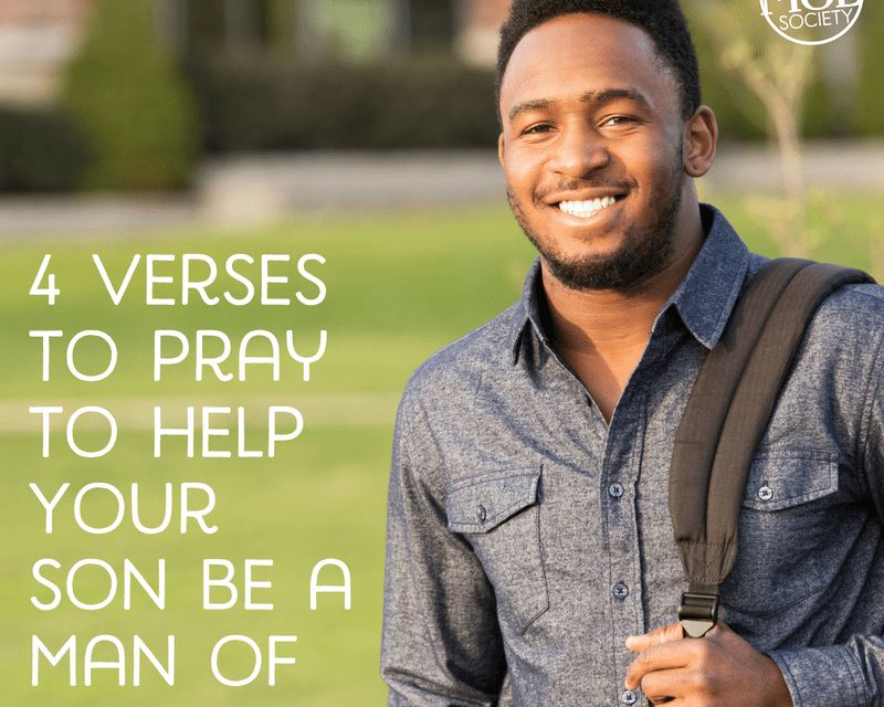 4 Verses to Pray to Help Your Son Be a Man of Integrity