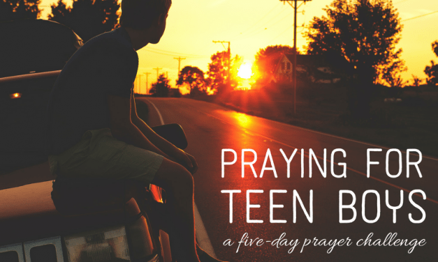 Join the New 5-Day Praying for TEEN Boys Prayer Challenge!