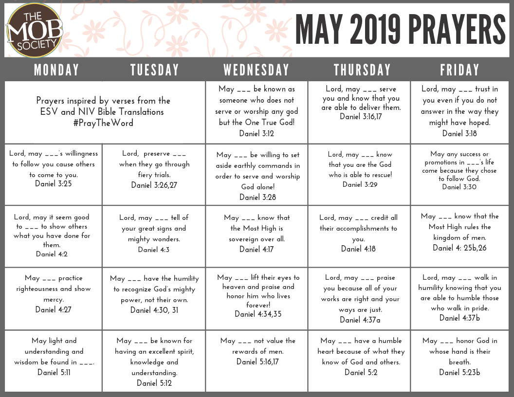 Tribe Prayer Calendar